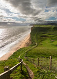 Path on cliffs at West Bay Dorset in UK Royalty Free Stock Photos