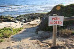 Path closed to beach Royalty Free Stock Photo
