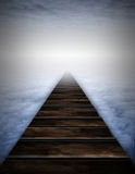 Path into clouds Royalty Free Stock Photo