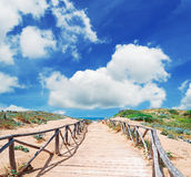 Path and clouds Royalty Free Stock Images
