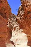 Path in Colored Canyon, Sinai desert royalty free stock photos