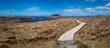A path in the Connemara National Park Royalty Free Stock Images