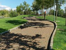 Path curved park Royalty Free Stock Photo