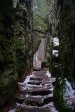 Path in czech sandstone rocks in Bohemian Paradise royalty free stock photo