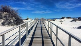 Path through the desert Stock Photo