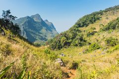 Path of Doi Luang Chiang Dao Mountain Landscape Royalty Free Stock Photography