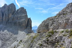 The path of the Dolomites Royalty Free Stock Photography