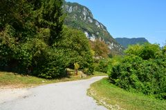 Path in Dolomiti mountains, Trento, Italy Stock Photo