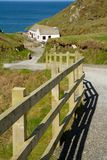 The path down to Tintagel beach and castle Royalty Free Stock Photo