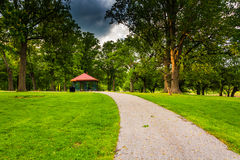 Path through Druid Hill Park, in Baltimore, Maryland. Stock Images