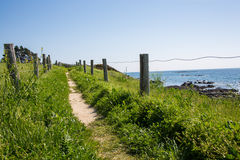 Path In The Dunes Of Quiberon In France Stock Photo