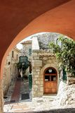 Street in Eze village france stock photos