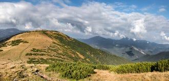 Path through fall mountain ridge Royalty Free Stock Photos