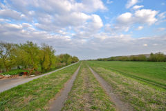Path in the field Stock Image