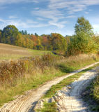 Path in field Stock Photography