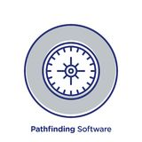 Path Finding Web Icon. A vector illustration of compass icon on a white background Royalty Free Stock Photography