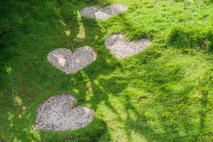 The path in the form of a heart. Love Concept. Stock Image