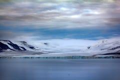 Islands Jackson, Payer Ziegler. Glaciers and snowfields. Path Of Fridtjof Nansen. Islands along Both sound. The islands Jackson, Payer Ziegler. Glaciers Stock Photography