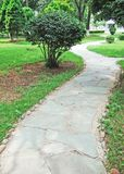 Path in a garden. Shenyang City, China Royalty Free Stock Photos