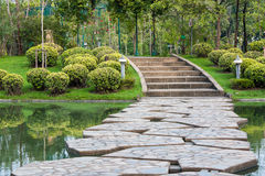Path in the garden. Stone path in the garden Stock Images
