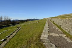 The path in the German war cemetery in Futa pass Stock Photography