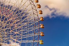 Path of giant ferris wheel stock image