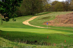 Path through the golf course. In the beautiful Kent countryside Stock Photo
