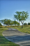 Path at Golf Course in California Stock Photography