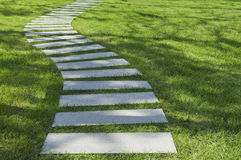 A path on the grass Royalty Free Stock Photography