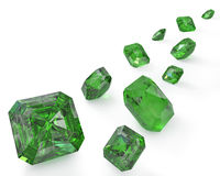 Path of green emeralds Royalty Free Stock Photos