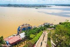 Path and Guayas River Stock Photography