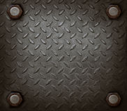 Path of hard metal and knot use for grungy background Royalty Free Stock Image