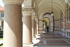 The path of higher learning. Rice University, officially William Marsh Rice University, is a private research university located on a 295-acre campus in Houston Royalty Free Stock Photos
