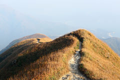 Path for hiking on hill Stock Photography