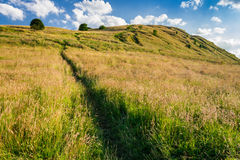 The path on the hill in Scotland stock photos