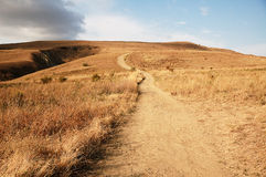 Path in hills Royalty Free Stock Photo