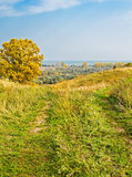 Path in the hills in  autumn day Stock Photography