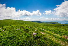 Path through hillside in high mountains Royalty Free Stock Image