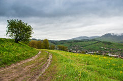 Path on hillside Royalty Free Stock Images