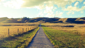 Path home. Coulees in Alberta Royalty Free Stock Image