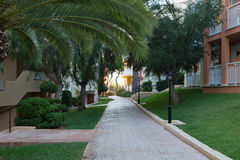 Path between the houses Royalty Free Stock Photo