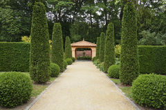 Path in Italian formal garden. Leading to a pavillion Stock Images