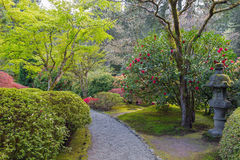 Path at Japanese Garden Royalty Free Stock Photos