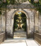 The path in the Jardim da Sereia park leading to one of the fountains royalty free stock photography