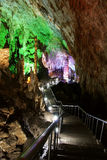 Path in karst cave stock photos