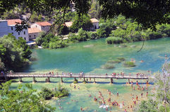 Path in Krka. Dalmatia, Croatia Stock Photos