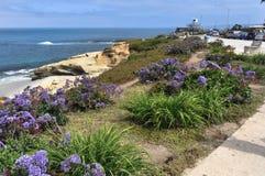 Path at La Jolla, San Diego, California stock images