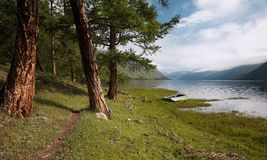 Path by a lake Stock Photo