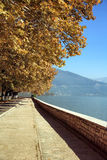 Path on the lake of ioannina Royalty Free Stock Images