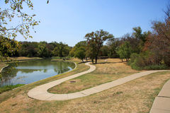 Path,lake in the park. Royalty Free Stock Photos